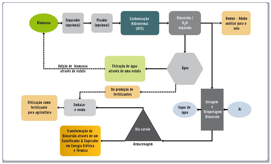 conceito de ciclo de biomassa